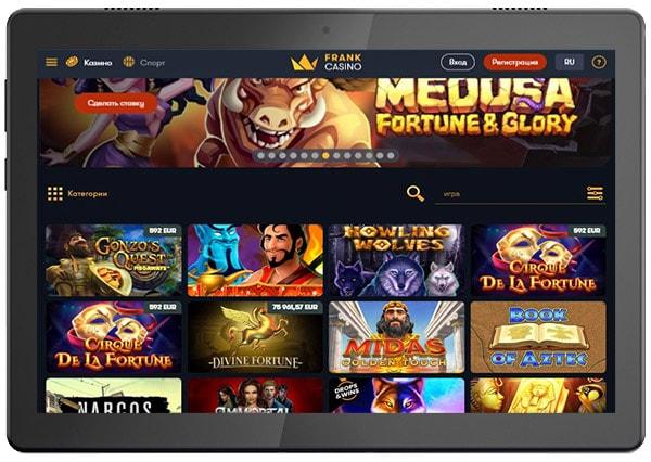 Франк казино мобильная версия: все игры на твоем смартфоне